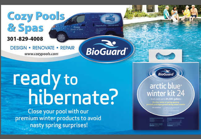 "20% OFF – BioGuard Arctic Blue – New ""Pool Closing Complete"""